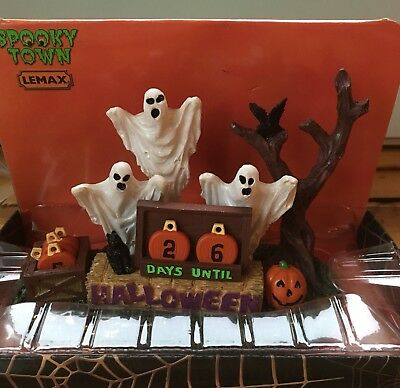 Lemax Spooky Town Days Until Halloween Countdown Ghost Pumpkin - Days Until Halloween Countdown