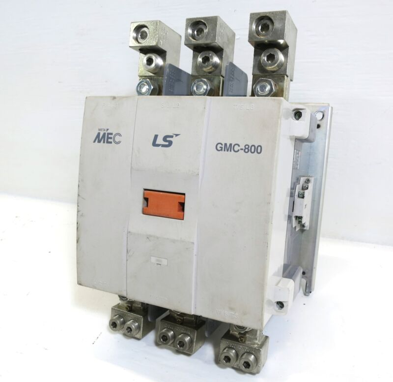 LS GMC-800 Meta MEC Size 7 Magnetic Contactor 900 Amp 3PH 600 HP 120V Coil 800A