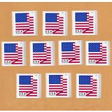 10 USA Forever Flag Stamps NEW USPS Self-Stick Postage FREE S+H United States
