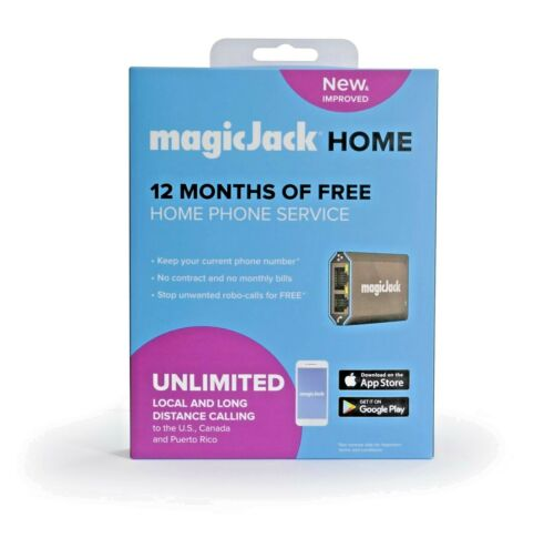 magicJackHome VoIP Phone Adapter Portable Phone Service | Latest Version