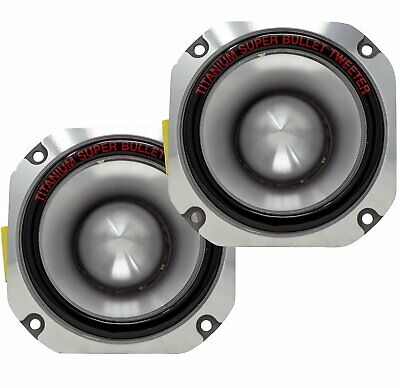 2x Ignite Pro 4'' Titanium Bullet Tweeter Car Pro Super Tweeter PT-01 - 1500W