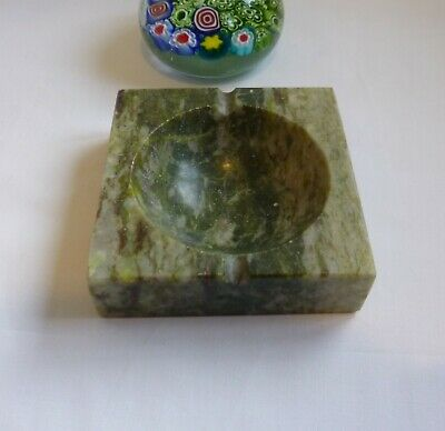 Hand carved soapstone--Marble stone cigarette Box Size 9 x 9cm