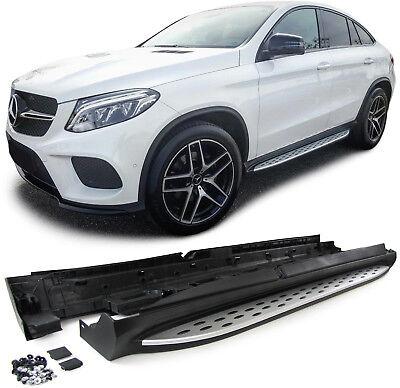 Alu Trittbretter Schweller OE Style mit ABE für Mercedes GLE Coupe C292 ab 15