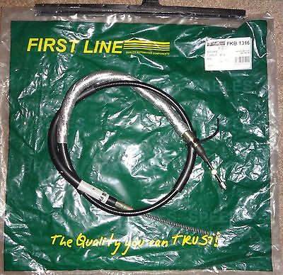 FIRSTLINE HANDBRAKE CABLE FKB1316 FITS VOLVO 440 1.7, WITH REAR DRUM BRAKES