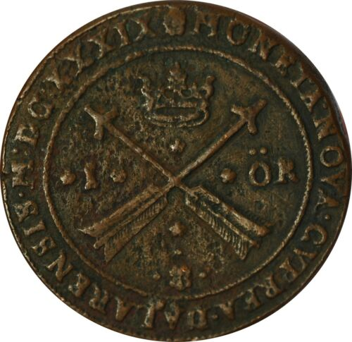 1639 Sweden 1 Ore VF Condition Large Coin 41 mm RARE - Z - XPEP