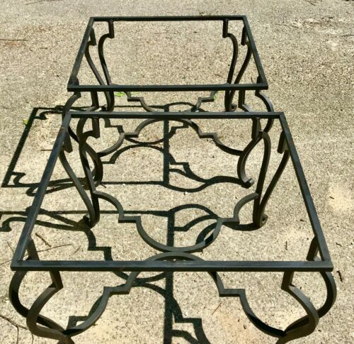 Set of Wrought Iron Table Legs Heavy