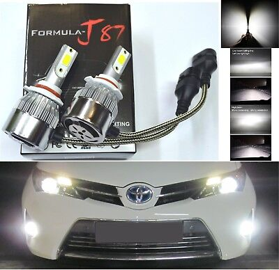 LED Kit C6 72W 9006 HB4 5000K White Two Bulbs Head Light Low Beam Replacement