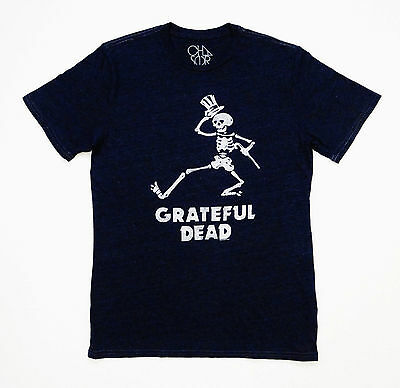 Grateful Dead Shirt T Shirt Dancing Skeleton Top Hat Cane Chaser GDP L Brand New