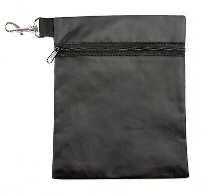 - Stripe Golf Single Pocket Tee, Ball, Accessory, and Valuables Pouch With Clip