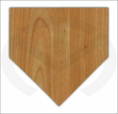 Unfinished Wood Home Plate Door Hanger Laser Cutout, Ready to Paint, Baseball