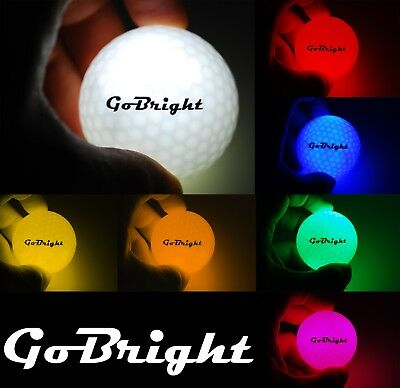 GoBright LED Light Up Night Golf Balls - Ultra Bright Glow in the Dark - Golf Ball Led
