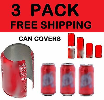3 HIDE A BEER CAN COVERS SODA SLEEVES DISGUISE TAILGATE COVER CAMO WRAP (Beer Covers)