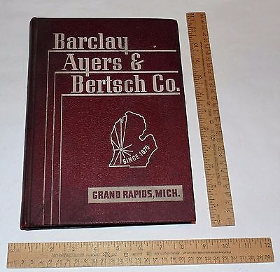 BARCLAY, AYERS & BERTSCH CO - CATALOG - 1938 - Industrial Supplies and Equipment