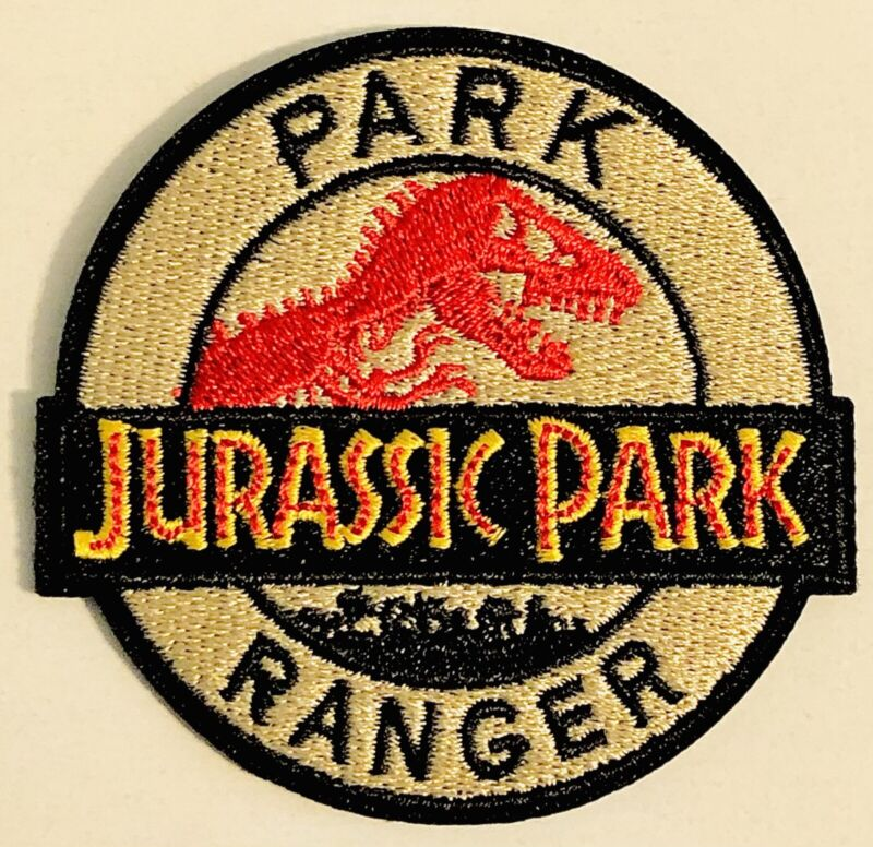 Jurassic Park RANGER  Logo Sew Iron On Badge Embroidery Applique Patch