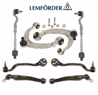 BMW E70 E72 Front Control Arms with Ball Joint Assy & Tie Rod Ends Kit Lemforder