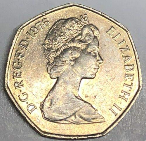 # C1598    GREAT BRITAIN     COIN,     50  PENCE    1976
