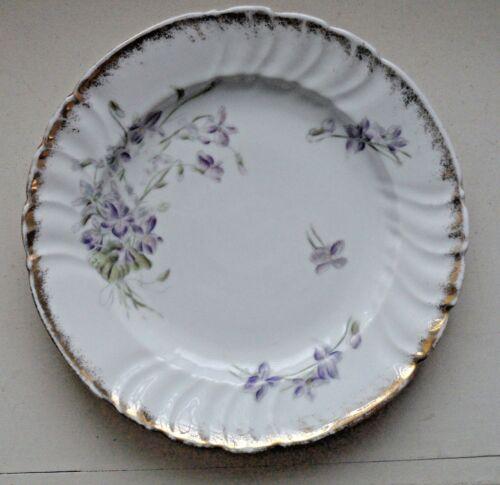"Pair (2) Louis Levinsohn Germany Late 19th Century 8"" Porcelain Salad Plates"