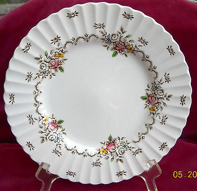"""J & G MEAKIN CHATSWORTH MULTICOLOR DINNER PLATE S 10"""" STAFFORDSHIRE ENGLAND"""