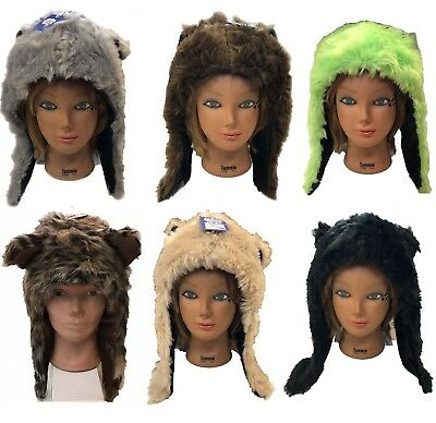 Animal Trooper Trapper (Winter Trooper TRAPPER Ski Hat Men Women Faux Furry animal Hat)