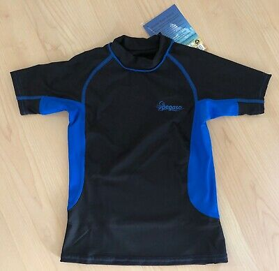 Uv Rash Shirt (PEGASO UV -T-SHIRT Gr 122 Kinder UPF 50+ Rash Guard Bade- Surf- Wassershirt NEU)