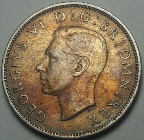1948 Great Britain Two Shillings UNC BEAUTIFUL RICH COLOR TONED CHOICE BU (SS)