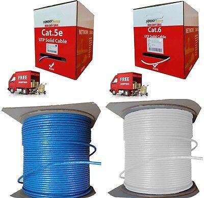 1000ft Bulk Cat5e Plenum, Cat6 Plenum Cable 1000ft 550Mhz White & Gray (Plenum Cables)