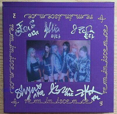 EVERGLOW reminiscence 1ST MINI K-POP REAL SIGNED AUTOGRAPHED PROMO CD#1