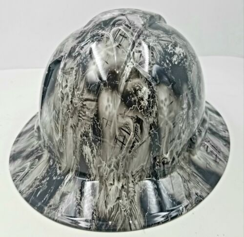 NEW FULL BRIM Hard Hat custom hydro dipped  PIRATE SKULLS FROM THE GRAVE  2