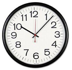 Universal Indoor/Outdoor Clock 13 1/2-Inch Black (11381) Analog Wall Clock