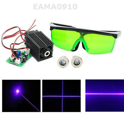 Focusable Dot Line Cross 405nm 50mw Laser Module Bluepurple Ttl W450nm Goggles