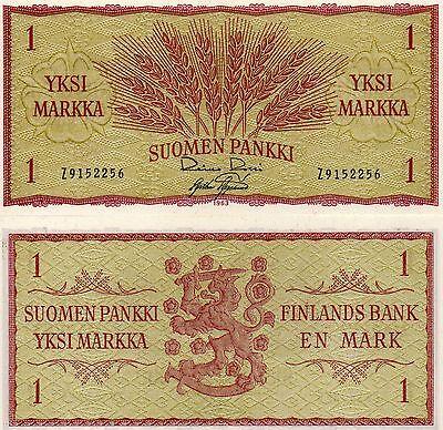 FINLAND Europe 1 Markka 1963 UNC p-98