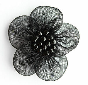 New Beaded Organza Flowers Sew On Appliques (18 Colors)