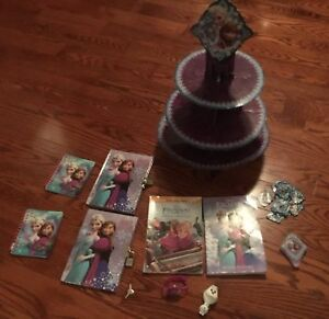 Disney Frozen chapter books , cupcake stand.....