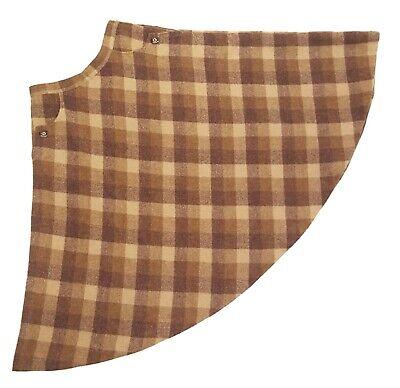 Luisa Spagnoli Skirt XS Small Vintage Italy Wool Mohair Brown Plaid Midi A-line