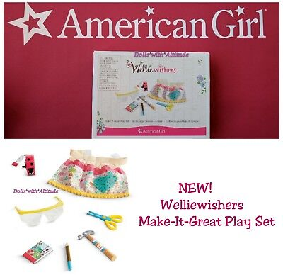 American Girl Make It Great Play Set Toy Apron Hammer Scissors for your doll!