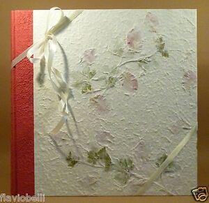 Album fotografico carta di riso fiori 33x33 50 100 foto for Tende carta di riso