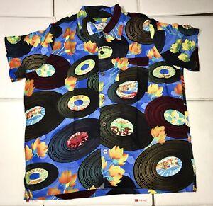 787f822cf3c753 New Bayou Wear New Orleans Jazz Fest Short Sleeve Shirt Records XL Button  Down