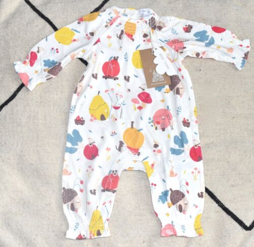 NWT! ANGEL DEAR Harvest Animals Romper in Soft Bamboo Blend Size 0-3 Months