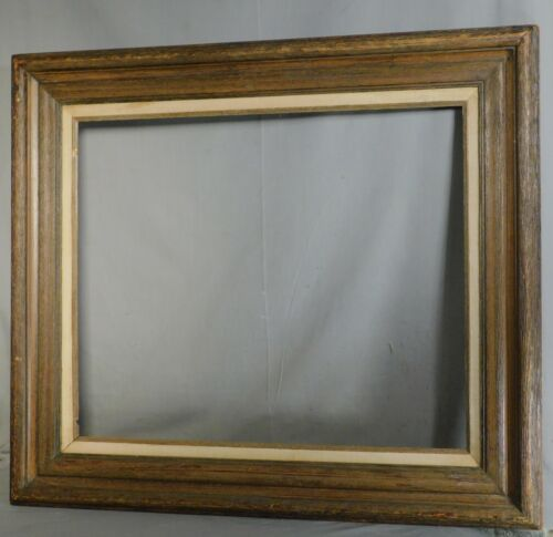 MASSIVE Spanish Revival Brutalist RUSTIC Wood Picture Frame 20th c. Modern 20x24