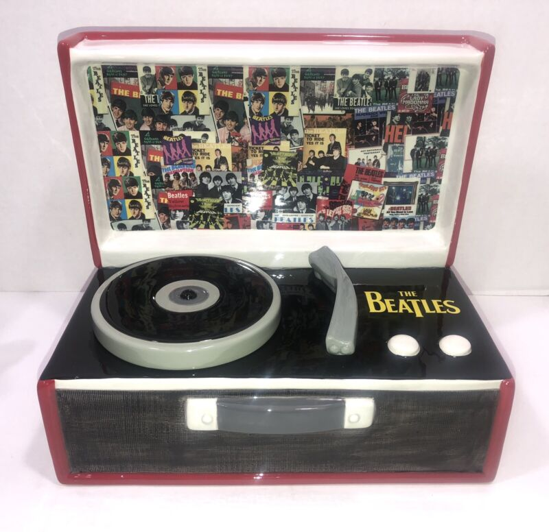 2019 The Beatles Record Player Cookie Jar. New, open Box