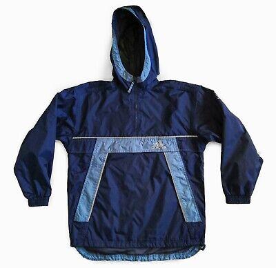 Vintage Adidas 1/2 Zip Pullover Windbreaker Anorak Hooded Rain Coat Jacket 90s L