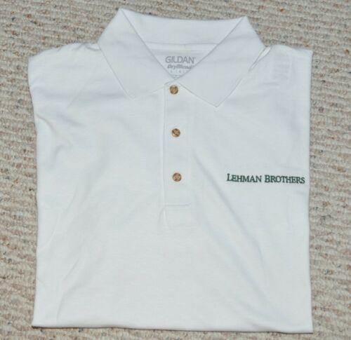 LEHMAN BROTHERS ~ POLO ~ GOLF SPORTSWEAR ( Large Only )   SUMMERTIME BOGO!