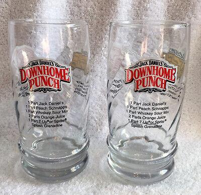 2 New Jack Daniels Downhome Punch Lynchburg Lemonade Tennessee Tea recipe glass - Lemonade Punch Recipe