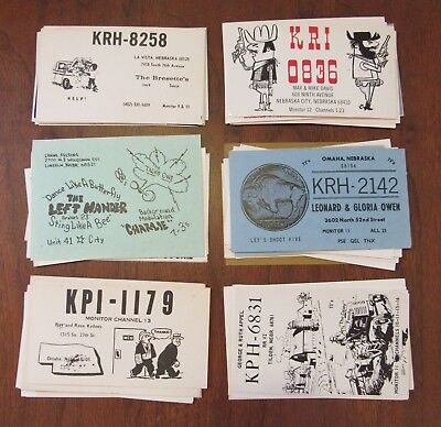 QSL Ham Radio Card Lot of 49 Nebraska NE