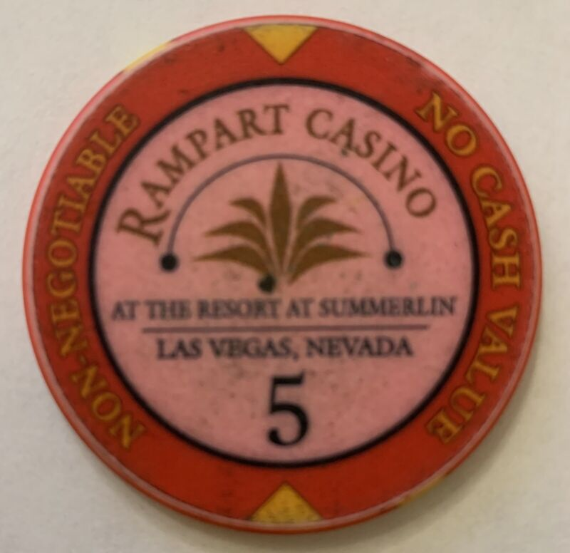 Las Vegas Rampart Casino 5 NCV Chip — Play Till You Lose — Live