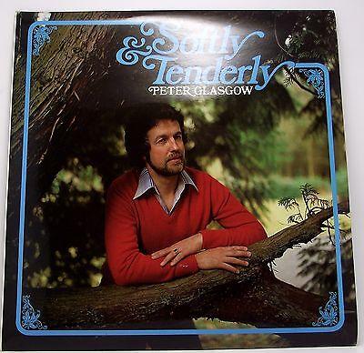 "PETER GLASGOW : SOFTLY & TENDERLY Album Vinyl LP 12"" 33rpm Excellent"
