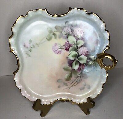 Vintage Antique Jewelry Porcelain Pendant Medallion hand Painted Arzberg Germany handpainted