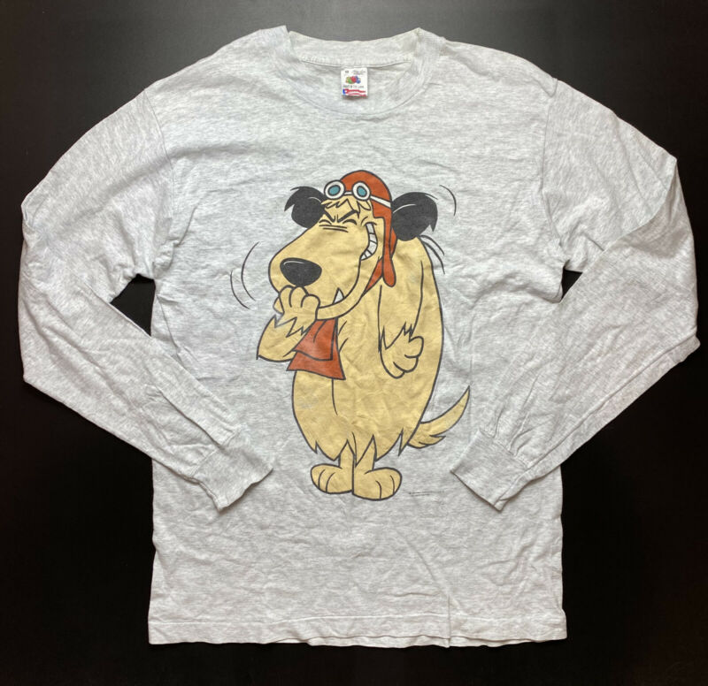 Vintage Muttley Hanna Barbera T Shirt Size M Long Sleeve 1994 Fruit of Loom