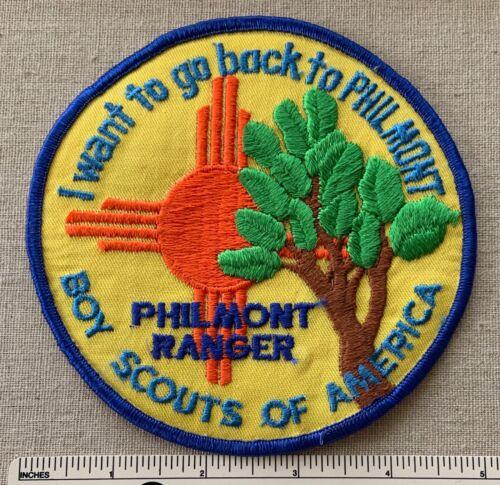 NOS Vintage PHILMONT RANGER Boy Scout Ranch Camp JACKET PATCH BSA Cimarron NM