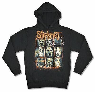 Slipknot Masks Black Sweatshirt Hoodie New Official - Slipknot Masks New